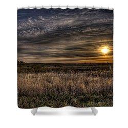 Midwest Sunrise Shower Curtain by Jeff Burton