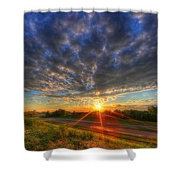 Midwest Sunset After A Storm Shower Curtain