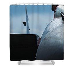 Mig-31 Interceptor Shower Curtain