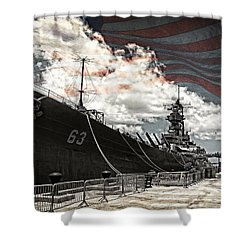 Mighty Mo U.s.s. Missouri Shower Curtain