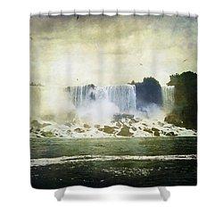 Mighty Niagara Shower Curtain by Lianne Schneider
