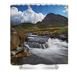 Mighty Tryfan  Shower Curtain by Beverly Cash