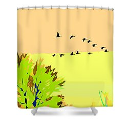 Migration 4 Shower Curtain
