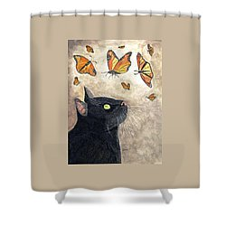 Migration Shower Curtain by Angela Davies