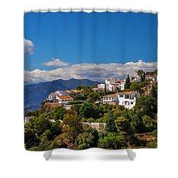 Mijas. White Village Of Spain Shower Curtain by Jenny Rainbow
