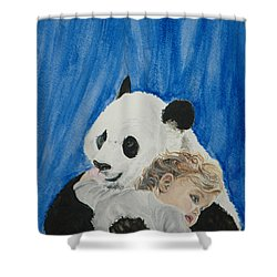 Mika And Panda Shower Curtain