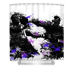 Mike Tyson Shower Curtain by Bekim Art