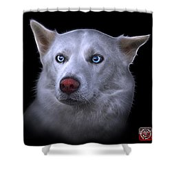 Mila - Siberian Husky - 2103 - Bb Shower Curtain by James Ahn