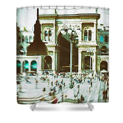 Shower Curtain featuring the photograph Milan Gallery by Silvia Ganora