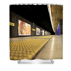Milan Subway Station Shower Curtain by Valentino Visentini