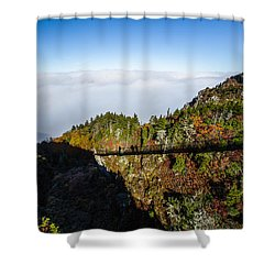 Mile High Bridge Shower Curtain by John Haldane