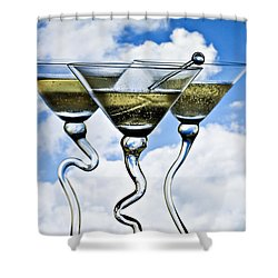 Mile High Club Shower Curtain by Linda Blair