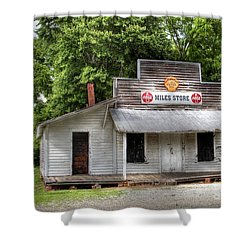 Miles Country Store Shower Curtain by Benanne Stiens