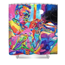 Miles Davis Bebop Shower Curtain