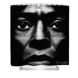 Miles Davis Tutu Shower Curtain