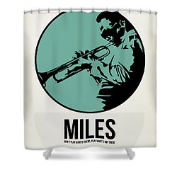Miles Poster 1 Shower Curtain