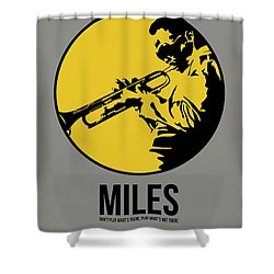 Miles Poster 3 Shower Curtain