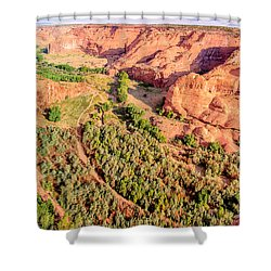 Miles To Go In Canyon De Chelly Shower Curtain by Bob and Nadine Johnston