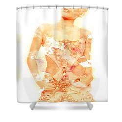 Shower Curtain featuring the digital art Miley by Brian Reaves