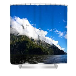 Shower Curtain featuring the photograph Milford Sound #2 by Stuart Litoff