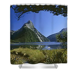 Shower Curtain featuring the photograph Milford Sound  New Zealand by Rudi Prott