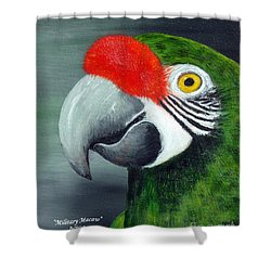 Military Macaw Shower Curtain