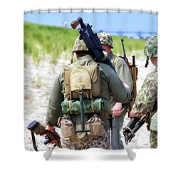 Military Small Arms 03 Ww II Shower Curtain by Thomas Woolworth