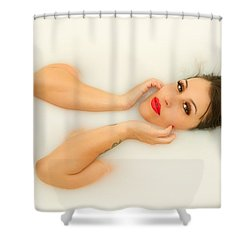 Milk Shower Curtain