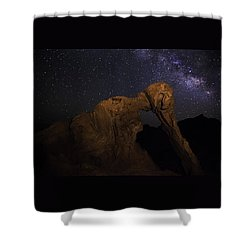 Milky Way Over The Elephant 2 Shower Curtain