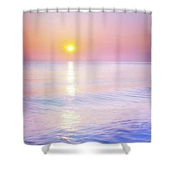 Shower Curtain featuring the photograph Milky Sunset by Lilia D