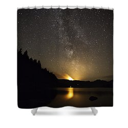 Milky Way At Crafnant 2 Shower Curtain by Beverly Cash