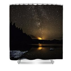 Milky Way At Crafnant Shower Curtain by Beverly Cash