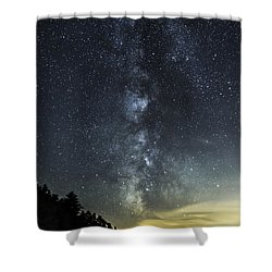 Milky Way Over Beaver Pond In Phippsburg Maine 2 Shower Curtain