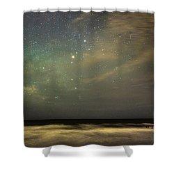 Milky Way Over Folly Beach Shower Curtain