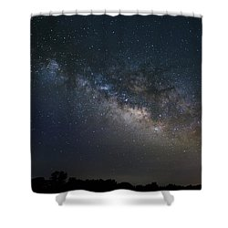 Milky Way Above The Trees Shower Curtain