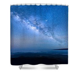 Milky Way Suspended Above Mauna Loa 1 Shower Curtain