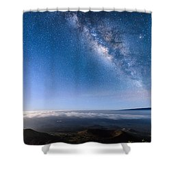 Milky Way Suspended Above Mauna Loa 2 Shower Curtain