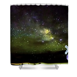 Milkyway  Crossing Blur Shower Curtain