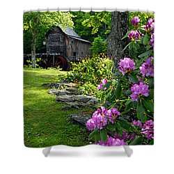 Mill And Rhododendrons Shower Curtain