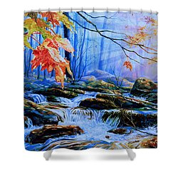 Mill Creek Autumn Sunrise Shower Curtain