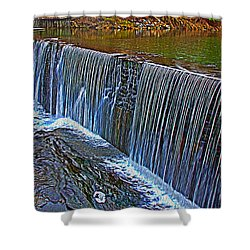 Mill Pond Spillover  Shower Curtain