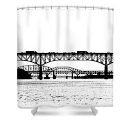 Millard Tydings Memorial Bridge Shower Curtain