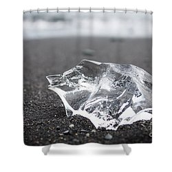 Shower Curtain featuring the photograph Millennium Ice by Peta Thames