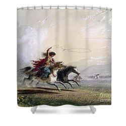 Miller - Shoshone Woman Shower Curtain by Granger