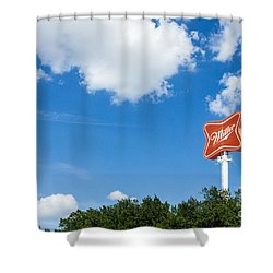 Miller Brewery Sign Shower Curtain