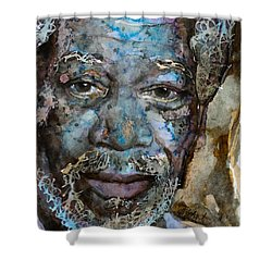 Shower Curtain featuring the painting Million Dollar Baby by Laur Iduc