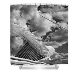 Milwaukee Art Center 2 Shower Curtain by Jack Zulli