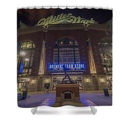 Milwaukee Brewers Miller Park 2 Shower Curtain