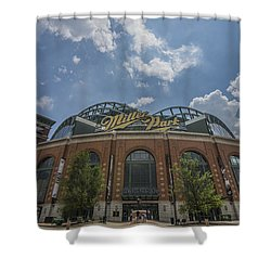 Milwaukee Brewers Miller Park 4 Shower Curtain