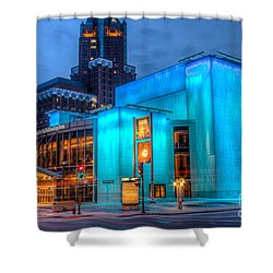 Milwaukee Pac Evening Glow Shower Curtain